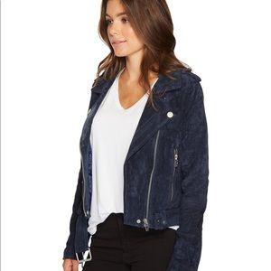 Blank NYC Blue Suede Moto Jacket